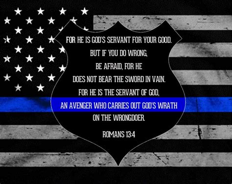 law enforcement wallpaper for mac law enforcement support thin blue line romans 13 4 for he is