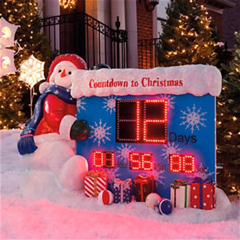 countdown to christmas snowman lighted digital clock yard decor frontgate countdown to outdoor display customer reviews product reviews read top