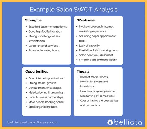Hair Accessories Business Plan by Salon Swot Analysis Swot Analysis For Hair Salons