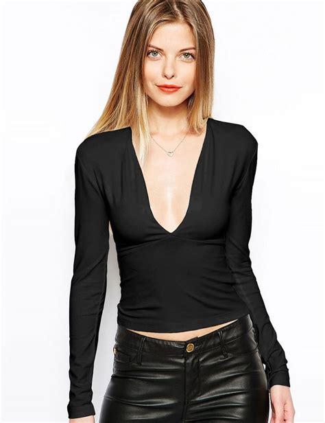 fashion 2015 new autumn basic simple tees womens