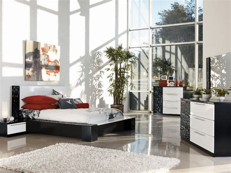 rana furniture bedroom sets bardini piroska dresser mirror in black white bed mattress sale