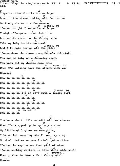 lyrics bruce springsteen bruce springsteen song jersey lyrics and chords