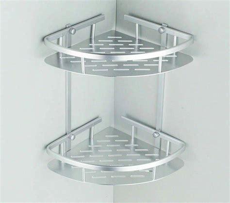 Rak Sudut Kamar Mandi Aluminium rak sudut dinding kamar mandi serbaguna minimalis