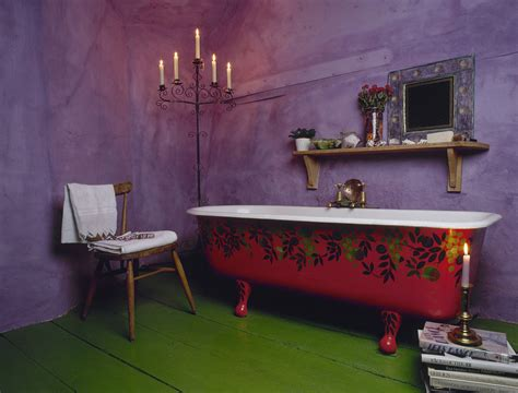 Purple And Green Is An Awesome Color Combo Bathroom Purple And Green Bathroom Decor