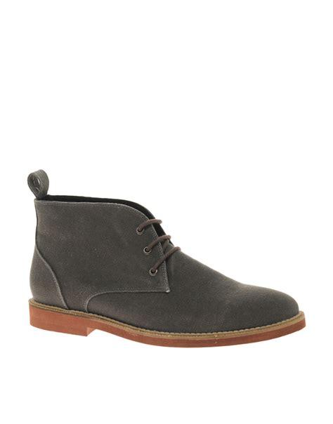 grey chukka boots asos asos micro sole canvas chukka boots in gray for