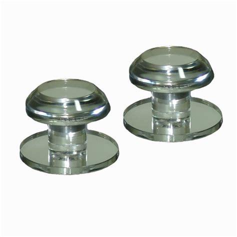 stick on cabinet knobs mirart 1 188 pull handle self stick round acrylic mirror