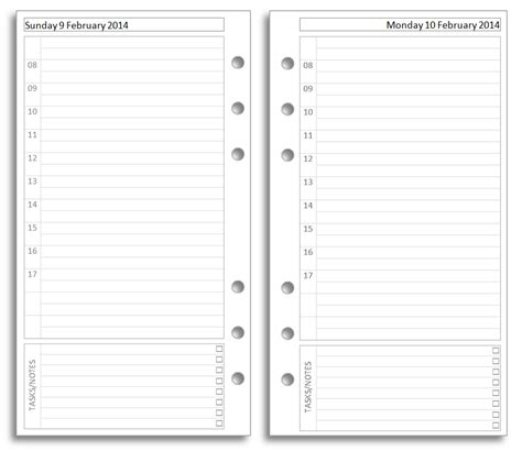 templates for diary pages philofaxy free filofax diary inserts to print on letter paper