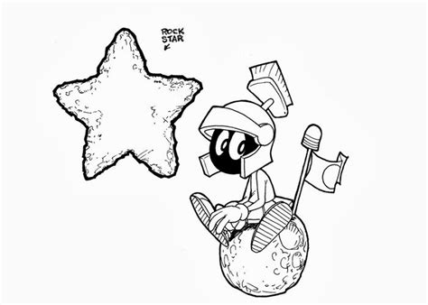 marvin the martian coloring free coloring pages and