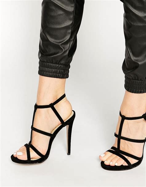 strappy sandal heels truffle collection truffle collection strappy
