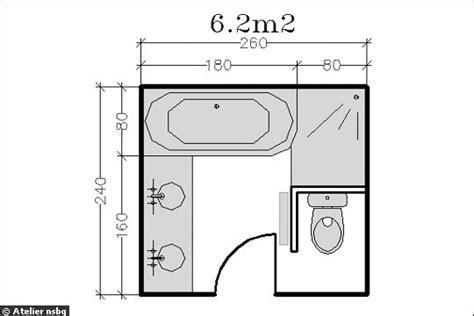 surface minimum bureau agencement d une salle de bain