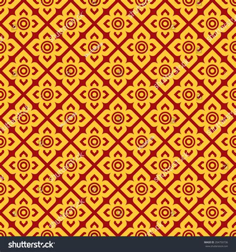 thai pattern history seamless thai pattern stock vector 204750736 shutterstock