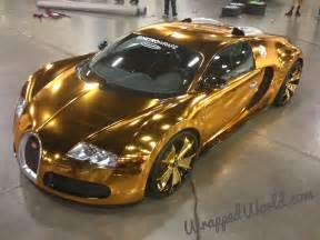 How Much Are Bugatti Veyrons Bugatti Veyron Gold Wrapped For Us Rapper Flo Rida