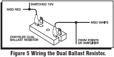 dual ballast resistor chrysler how to install an msd 6a digital ignition module on your 1979 1995 mustang americanmuscle