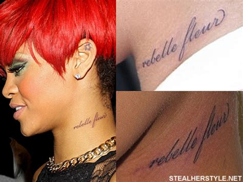 rihanna back tattoo rihanna39s tattoos meanings style with