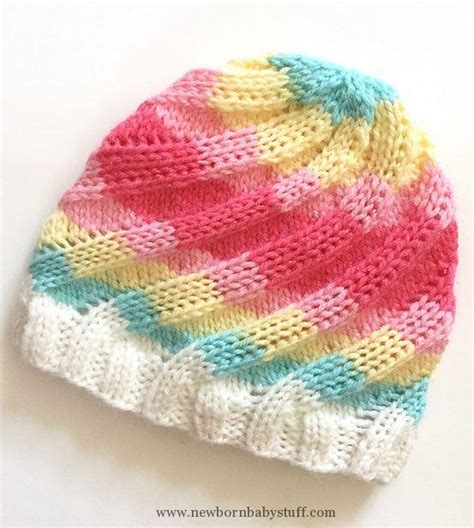 knitted baby beanie pattern free baby knitting patterns free knitting pattern for swirl hat