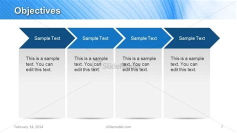 plant layout objectives ppt 4 chevron arrows for objectives slide design in powerpoint