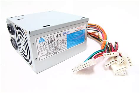 6 Pin Auxiliary Power Supply Connectors by Codegen 300xx 300w Atx Desktop Netzteil Power Supply 6 Pin