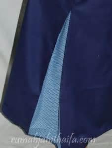 Gamis Anak Qirani Q Poppy 03 Katun Jepang jahitan gamis biru mba intan di sng rumah jahit haifa