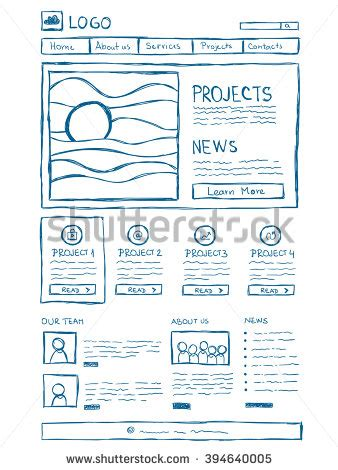 Illustration Hand Drawn Houses Small Town Stock Vector 216247075 Shutterstock Sketch Web Template