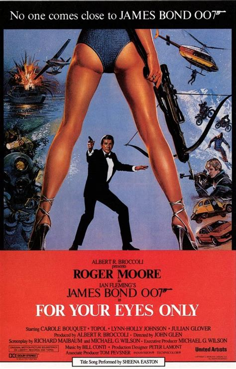film james bond for your eyes only for your eyes only poster bond james bond pinterest