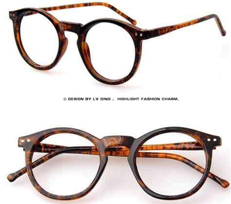vintage preppy eyeglasses frames circular