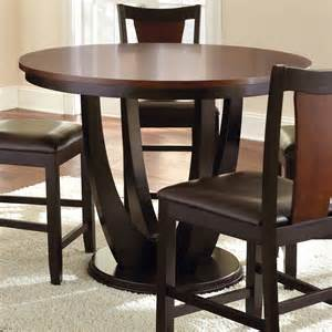 Counter Height Round Table Sets - steve silver company ok4848p oakton counter height round dining table atg stores
