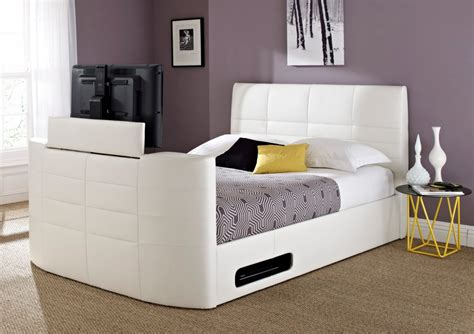 tv beds york leather white tv bed king size beds bed sizes