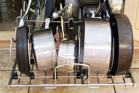 kitchen cabinet organizers for pots and pans kitchen cabinet pots and pans organization 6 kevin amanda