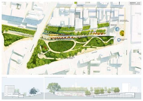 garden design proposal union terrace gardens city garden aberdeen e architect