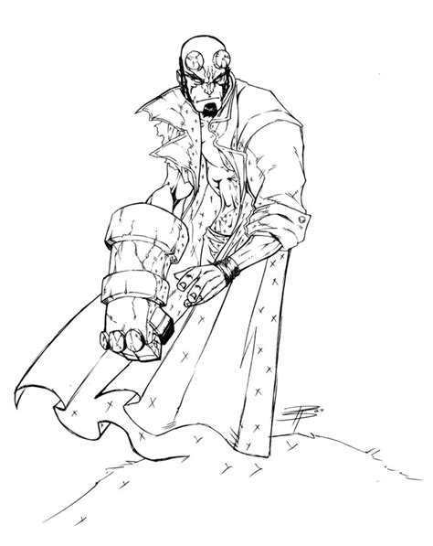 hellboy sketch by fooray on deviantart