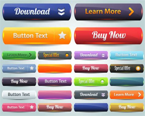 web layout button 4 designer the website button 04 vector material