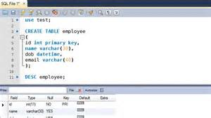 sql tutorial 9 create table statement