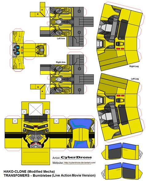 Transformer Papercraft - hako clone bumblebee lam by cyberdrone on deviantart