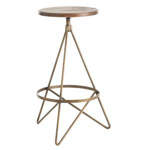 furniture metal backless bar stool with wood saddle