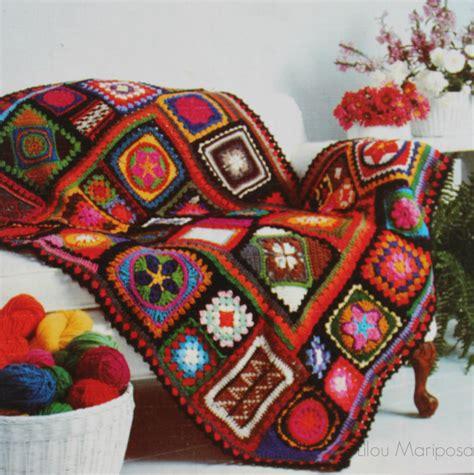 vintage pattern throw crochet blanket pattern vintage 70s crochet granny square