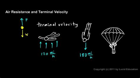physical science  terminal velocity youtube