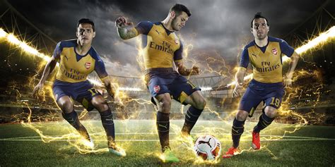 Arsenal Away 1516 oficial arsenal 15 16 away kit todo sobre camisetas