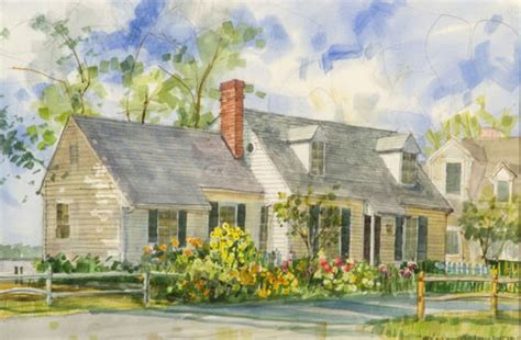 painting of house transparent watercolor painting quot bernie liz s house the