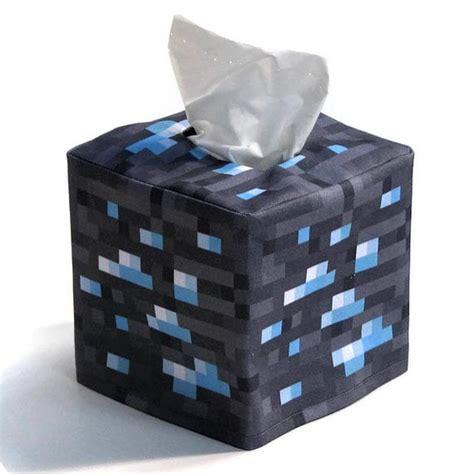 tissue holder minecraft inspired tissue box cover gadgetsin