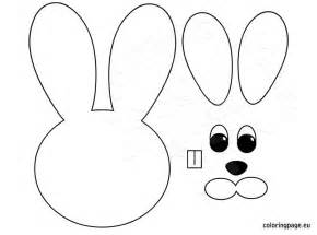 easter craft templates easter bunny paper craft coloring page
