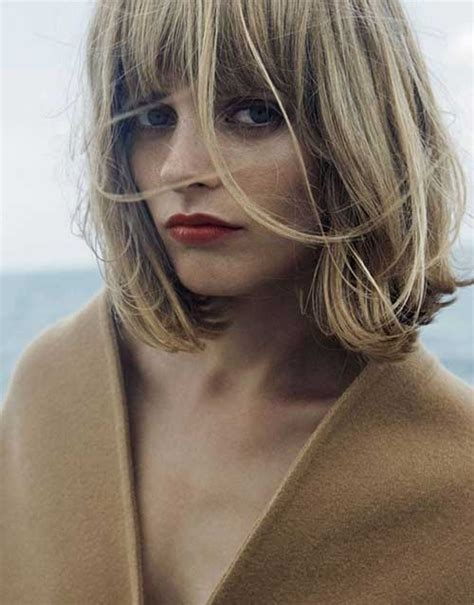blonde bob with fringe nice short bob haircuts with bangs short hairstyles 2017