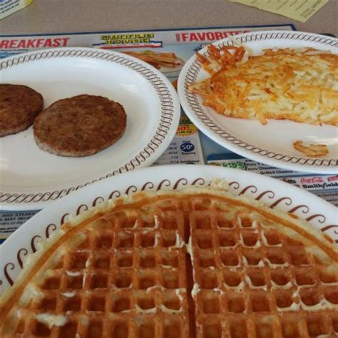 waffle sausage and hash browns delicious picture of