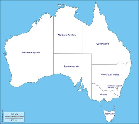 map of australia with territories map of australia with states territories and capital