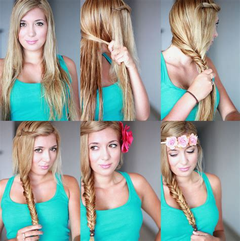 girl hairstyles tutorial cute braided hairstyle tutorial for girls how to fishtail