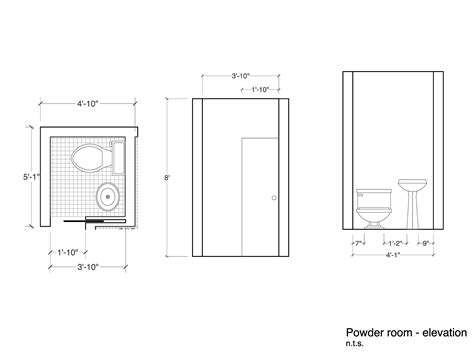 Bedroom Size Minimum Powder Room Dimensions Lightandwiregallery