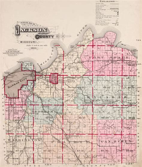 Jackson County Missouri Records Jackson County Missouri 1904 Historical Map Reprint Townships
