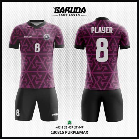 desain jersey bola unik desain jersey futsal bola purple max garuda apparel