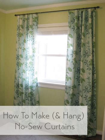 how to make curtains how to make no sew curtains and make a window look way