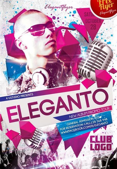 club flyers templates free dj eleganto free club and flyer psd template http