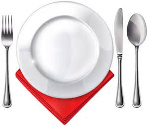 Plate Spoon Knife Fork and Red Napkin PNG Clipart   Best